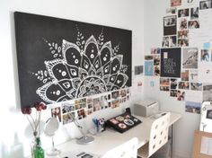 chalk board wall art Love this!!