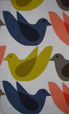 Orla Kiely Multi Bird Watch Wide / long cotton Fabric New Orla Kiely Fabric, Rug Hooking, Cotton Fabric, Bird, Watch, Rugs, Farmhouse Rugs, Clock, Cotton Textile