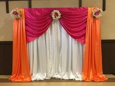Little Magic Events Gallery parties, Wedding Hall Decorations, Marriage Decoration, Baby Shower Decorations, Mandir Decoration, Ganpati Decoration At Home, Half Saree Function, Indian Wedding Stage, Indian Baby Showers, Janmashtami Decoration