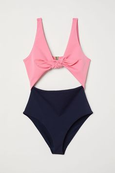 Cut-out swimsuit - Pink/Dark blue - Ladies | H&M GB 4
