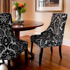Costco Madison Black Damask Chair 2 Pack