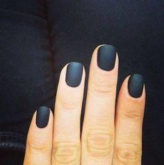 Matte navy blue manicure #mani