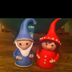 Fimo gnomes. Made them as a thank you gift for a dear friend!