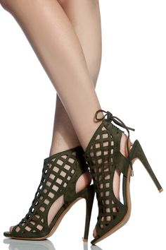 Olive Faux Suede Cut Out Peep Toe Heels @ Cicihot Heel Shoes online store sales:Stiletto Heel Shoes,High Heel Pumps,Womens High Heel Shoes,Prom Shoes,Summer Shoes,Spring Shoes,Spool Heel,Womens Dress Shoes