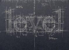 Blueprint Chalk Typography