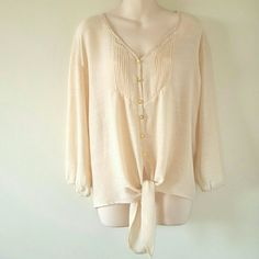 Tan Blouse Excellent condition. Juniors.  Reasonable offers accepted. Ready for shipping. Shipping is same or next day excluding weekends. All package with love and care. Thank you for shopping my closet! Xoxo Tops Blouses