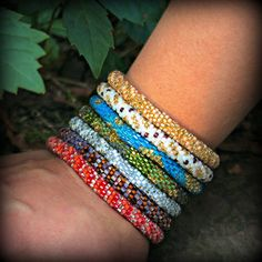 Fall fashion fair trade Lily and Laura Bracelets - Click for details about free shipping! Olive, Dark Coral, Mauve, and more!