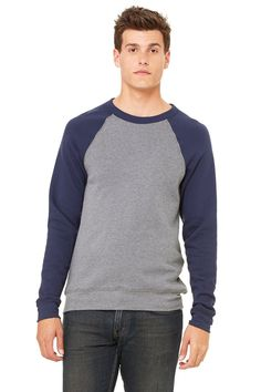 Zara Yoga Studio  LA  Unisex Sponge Fleece Crew Neck Sweatshirt (Small /Deep Heather/Navy). An exceptionally plush pullover made from our exclusive sponge fleece// Yoga Clothing // Discount Yoga Apparel // Yoga Apparel Brand // Bikram Yoga Apparel. Triblend colors - 50% poly 37.5% combed and ring-spun cotton 12.5% rayon, 30 single 8.2 oz./yd2// Discount Yoga Clothes // Yoga clothes brand // Hot Yoga Clothes // Yoga Clothes Clearance // Bikram Yoga Clothes. (Marble fleece colors - 85%…