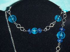Crystal Shining Blues Ensemble by OurBeadedCharms on Etsy, $34.99