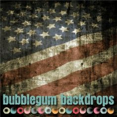 $9 and up! Grunge Flag Wall. 4th of July, Stars and Stripes Backdrops, floordrops www.bubblegumbackdrops.com