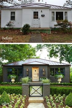 House Techniques And Strategies For modern home design exterior Home Exterior Makeover, Exterior Remodel, Ranch Exterior, Ranch House Exteriors, Ranch House Landscaping, House Makeovers, Kitchen Makeovers, Interior Design Minimalist, Ranch Style Homes