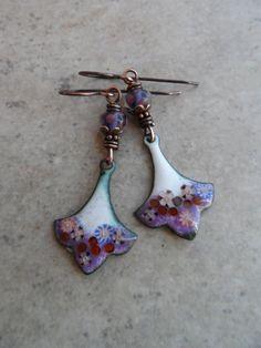 Triple Berry Treat ... Enameled Copper Fleur de Lis by juliethelen