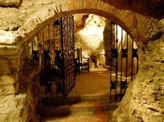 Faust Wine Cellar in the Buda Castle District in Budapest Hungry