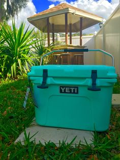 Seafoam green yeti cooler