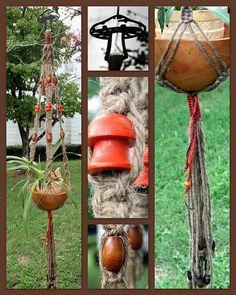 Vintage Shrooms Macrame Plant Hanger by Macramaking- Natural Macrame Plant Hangers, via Flickr