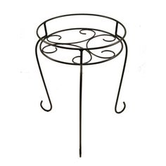 """Metal plant stand, 15"""" tall - would look great painted a bright, fun color - $10 @ Lowe's"""