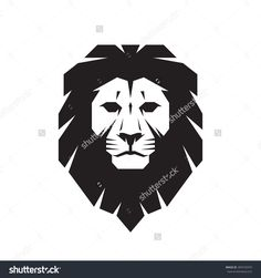 Lion Head - Vector Sign Concept Illustration. Lion Head Logo. Wild Lion Head Graphic Illustration. Design Element. - 309742970 : Shutterstock