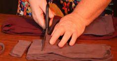 Egyszerűen felvágta a viseletes harisnyákat… Az eredmény még a sokat látott háziasszonyokat is meglepte!