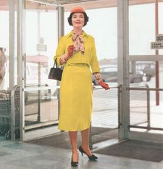 Here is a set of photos of a beautiful lady, all decked out in the best 1957 fashions, engaging in some serious shopping. If you had...