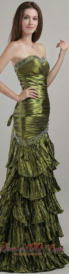Olive Green Gown x uniixe.com