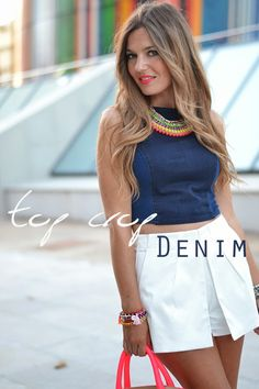 DENIM TOP CROP | Mi aventura con la moda