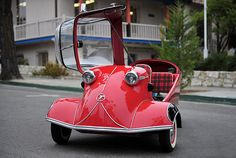"1956 Messerschmitt KR200 typically more than 95% of a car's energy is used just to move itself, The Carless Class is defined by eliminating this old fashioned ""car equation."" Vehicles in The Carless Class still have a full fairing but often just 3 wheels, some have pedal power and most have electric assist."