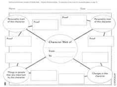 Love To Teach | Character Web Worksheet | Teacher, Student, and Parent Resources