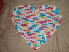 Heart Dishcloth ~ free pattern