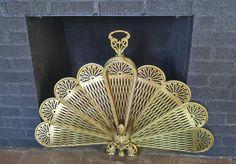 brass peacock folding fireplace screen brass peacock folding rh pinterest com