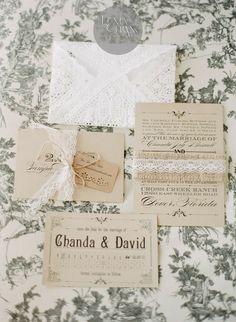 Silver Pencils: Real Wedding: Lacey Wedding Invites