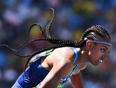 When it comes to being active, we only look this cool in our heads. | These Olympic Track and Field Stars Are Hair and Beauty Goals. Essence.com