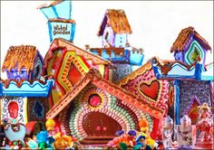 To see detailed galleries of each house, click on the photos below  Giant Gingerbread Cookie Sandcastle