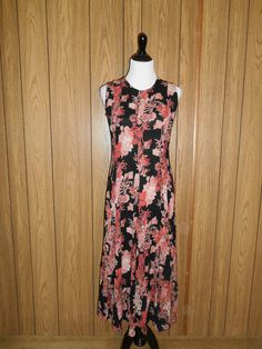 Vintage long  floral dress 1990s 90s grunge  by ATELIERVINTAGESHOP, $30.00