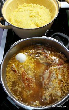 cum se fierbe saramura de pui olteneasca Curry, Romanian Food, Cheeseburger Chowder, Chili, Supe, Chicken, Ethnic Recipes, Diet, Curries