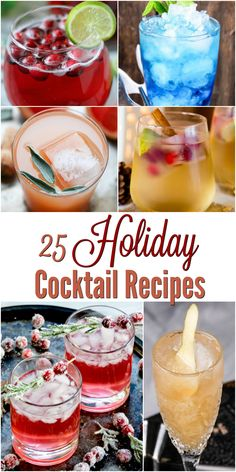 Tis the season for amazing holiday cocktail recipes! Whether you're celebrating at dinner with family, or having a few friends over for an ornament exchange, these festive drinks are the perfect way to tie everything together.  via @simmworksfamily