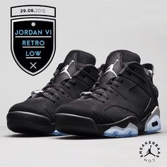 Air Jordan 6 Retro Low - With a icey blue outsole and a solid midsole Air Jordan prepares you for the rough and tough fall that's coming.  29.08.2015 at 09:00 AM, don't sleep on em.