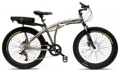 Love It! Prodeco V3 Storm 8 Speed Folding Electric Bicycle, Pewter Metallic, 26-Inch/One Size