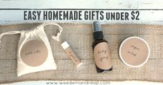 Easy Homemade Gifts for Under $2