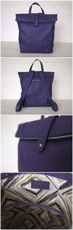 #purple #purplebackpack #purplebag #backpack #leather #colorfulbackpack #minimalistbag #minimalbackpack #style #leatherbag #uniquebackpack