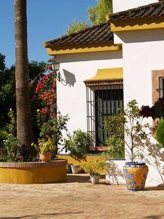 Pura Sangre Lusitano, Yeguada Aguilar Velasco, casa, exteriores