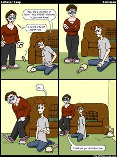 Leftover Soup webcomic - new hedgehog pet
