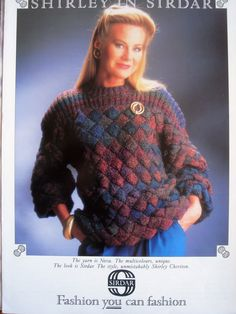 LADIES DK ENTRELAC SWEATER KNITTING PATTERN 30/40in (SIR8322) in Loisirs créatifs, Crochet, tricot, Patrons, modèles   eBay