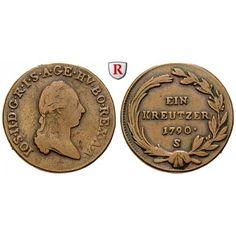 Römisch Deutsches Reich, Joseph II., Kreuzer 1790, ss: Joseph II. 1765-1790. Kupfer-Kreuzer 1790 S. Herinek 418; sehr schön 10,00€ #coins