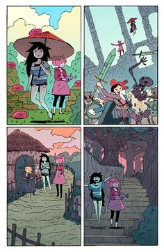 This is a little backup short I did for Adventure Time #40. I wanted to draw a light, simple sort of story and have some fun. And I did, I had some fun. My wife, Kathryn, helped out with flats and basically kept me from making things terrible. Otherwise this was written, drawn, colored, lettered, etc by me.Hope you enjoy it!-Jake