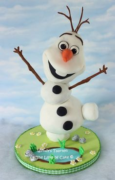 My Olaf In Summer Cake Inspired By The Song In Frozen