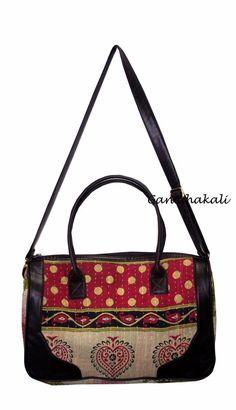 Vintage Cotton Kantha Womens Fashion Handmade Handbag Shoulder Crossbody Bag  291  Ganeshakali  BucketBagCrossbodyTote Handmade 262d9b8a25473