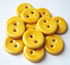 ceramic buttons by Buttonalia on Etsy