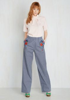 Fun 1960s boho pants. For Trousers on End Pants $99.99 AT vintagedancer.com