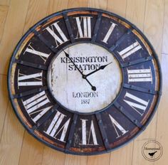 Repurposed Brand New Clock Farmhouse Clocks, Love Natural, Diy Craft Projects, Diy Crafts, Humble Abode, Cozy House, Vintage Home Decor, Wood Pallets, Homemaking