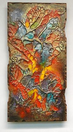 Lenan is the artist, and my uncle. Love the colors and textures.